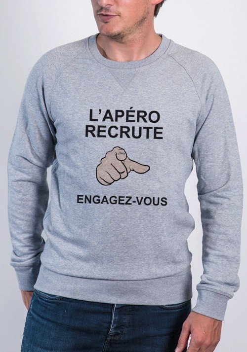 Apéro recrute - Sweat Homme