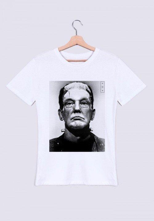 Frankenstein Trump T-shirt Homme Col Rond