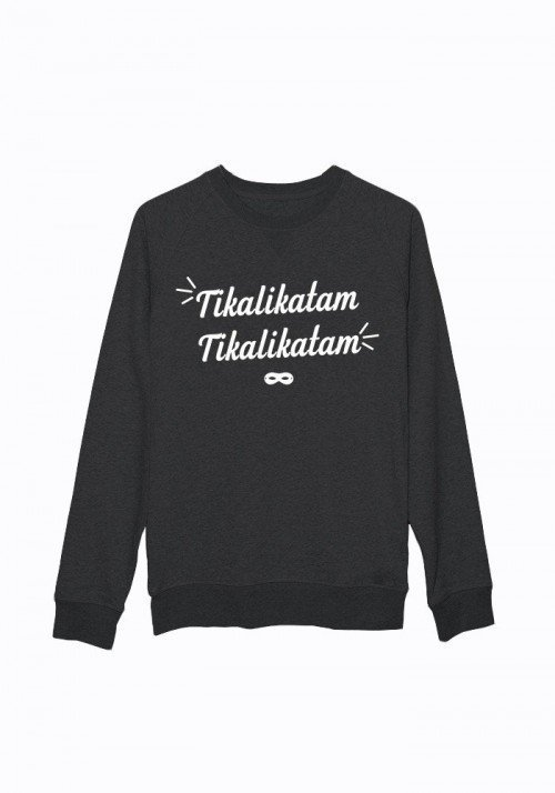 Tikalikatam - Sweat noir chiné Homme