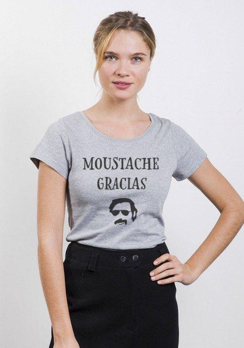 Moustache gracias - T-shirt Femme