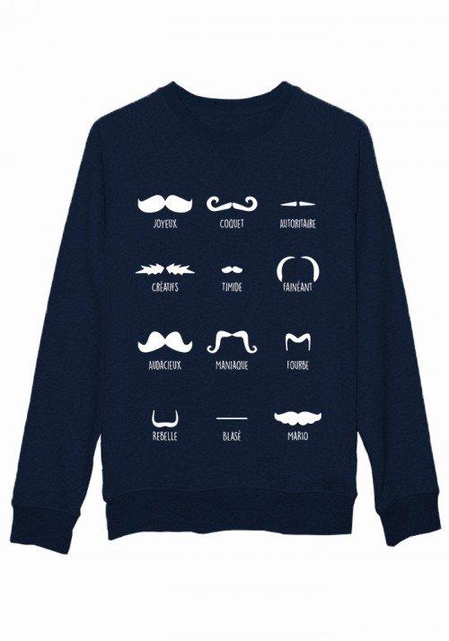Moustache style - Sweat Femme