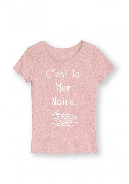 La mer Noire T-shirt Femme Col Rond