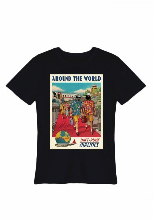 Around the world Tee-shirt Homme
