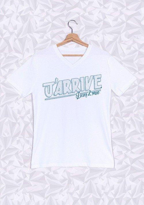 Promis J'arrive T-shirt Homme Col V
