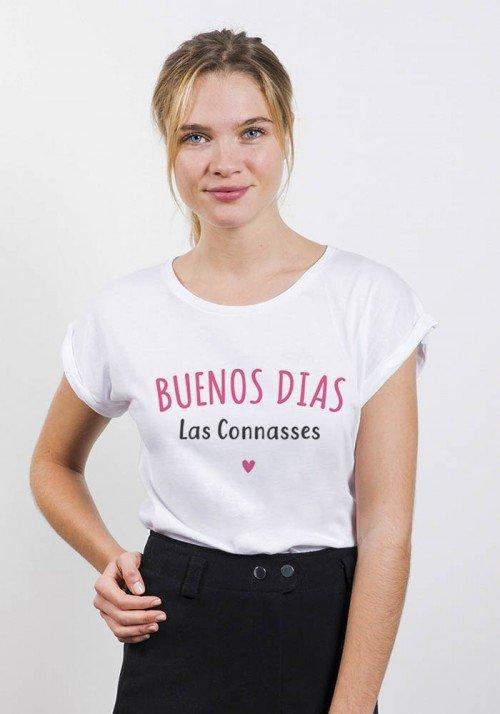 Buenos dias las connasses - T-shirt Femme manches retroussées