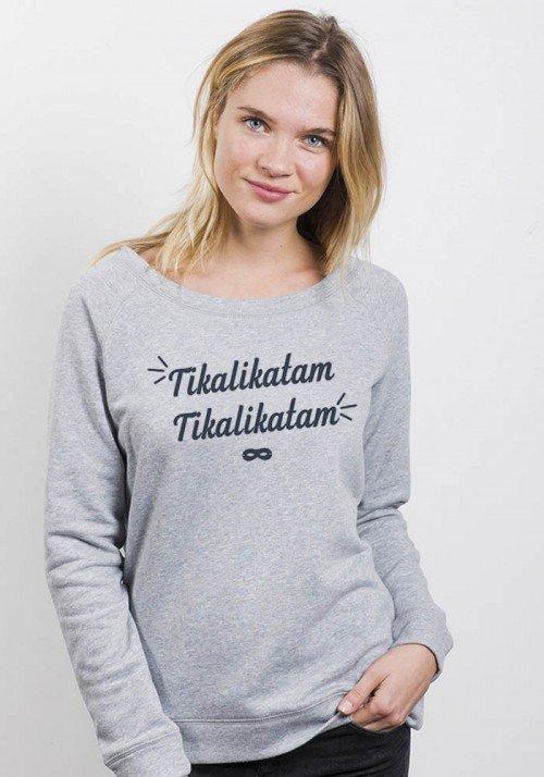 Sweat Femme col large Tikalikatam