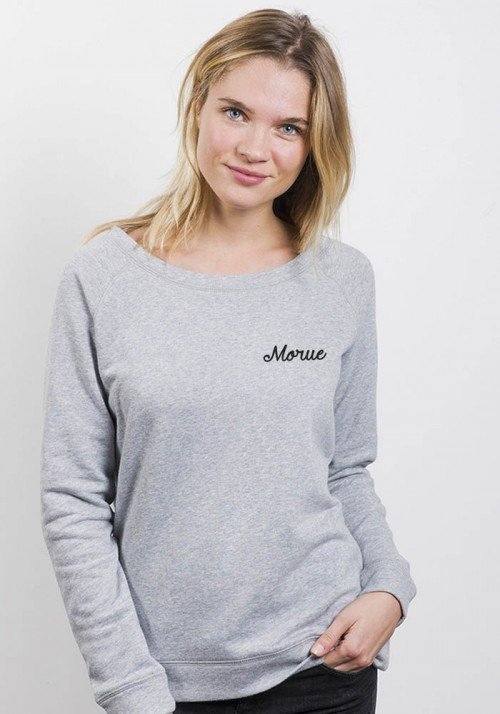 Morue - Sweat Femme col large