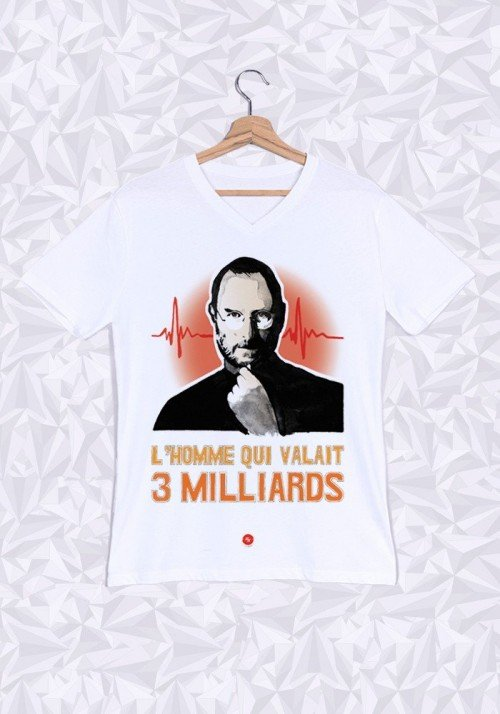Le Steve T-shirt Homme Col V
