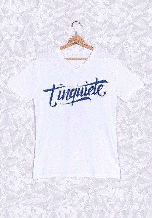 T'inquiète Promis T-shirt Homme Col V