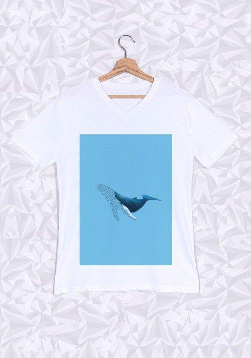 Baleine T-shirt Homme Col V