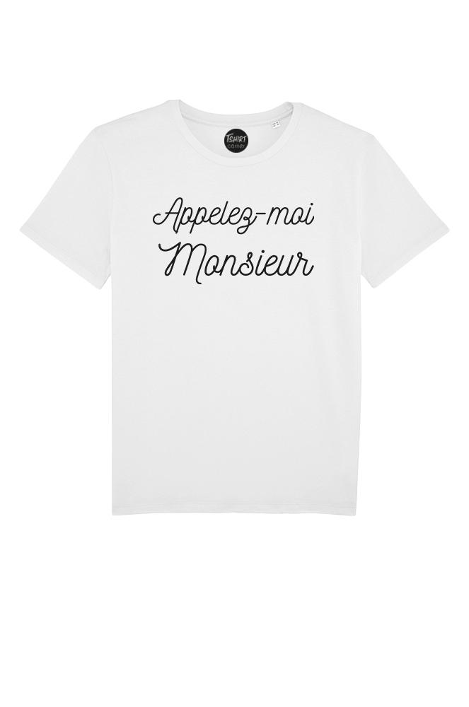 Monsieur T Shirt Appelez Moi Homme F1JclK