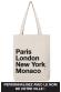 PARIS LONDON NY - Tote Bag personnalisable avec votre ville