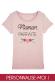 Maman petites fleurs - T-shirt femme à personnaliser