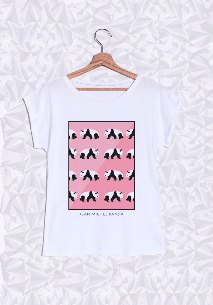 Tshirts Femme Panda Rose