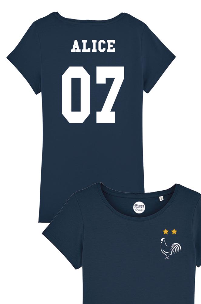 T-shirt de Foot Premium Personnalisable France