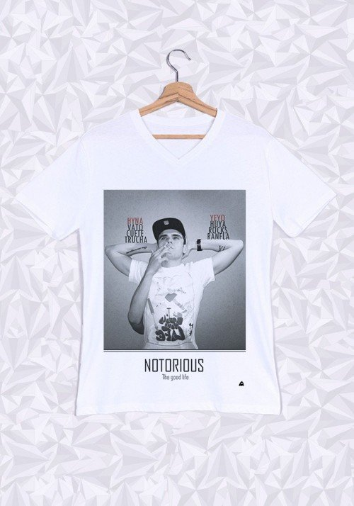 Fat Notorious T-shirt Homme Col V