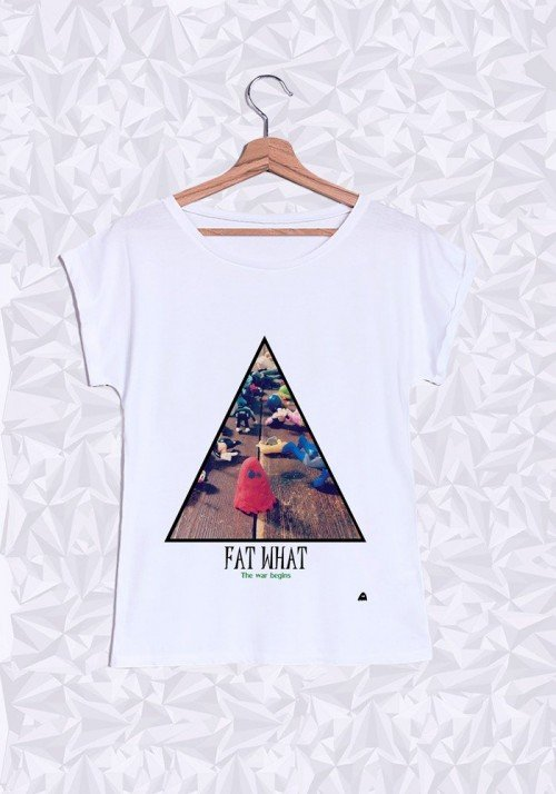 Fat War T-shirt Femme Manches Retroussées