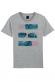Plage Bleu Palmier - T-shirt Homme