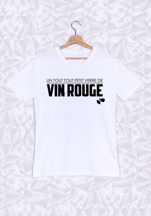Verre de Rouge T-shirt Homme Col V