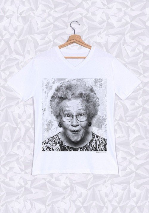 Jocelyne T-shirt Homme Col V