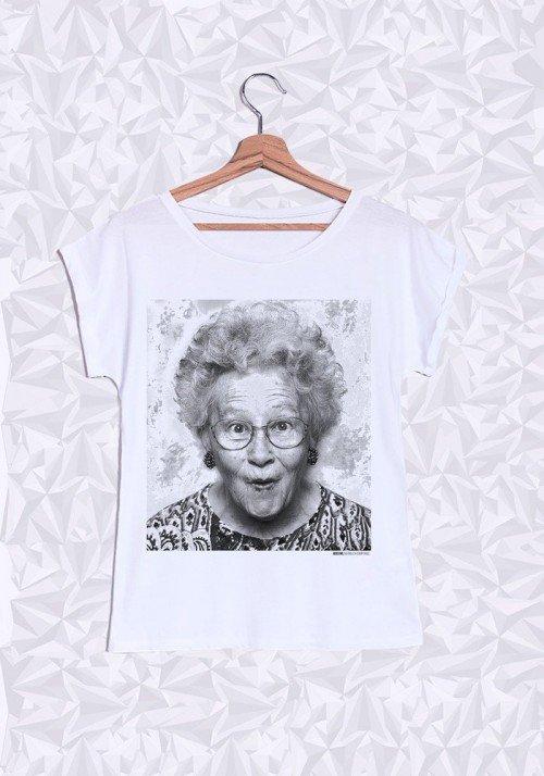 Jocelyne T-shirt Femme Manches Retroussées