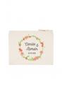 Couronne duo fleurs - pochette personnalisable pour Mariage
