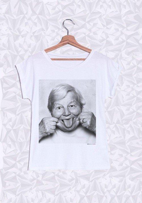 Yvette T-shirt Femme Manches Retroussées