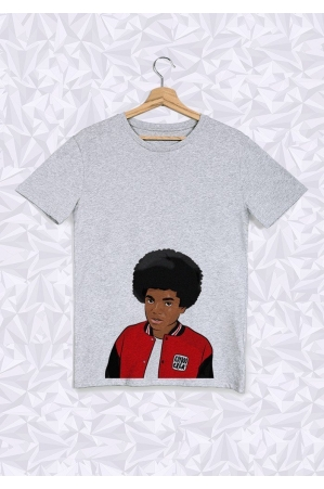 Michael Jackson Afro Buste T-shirt Homme Col Rond