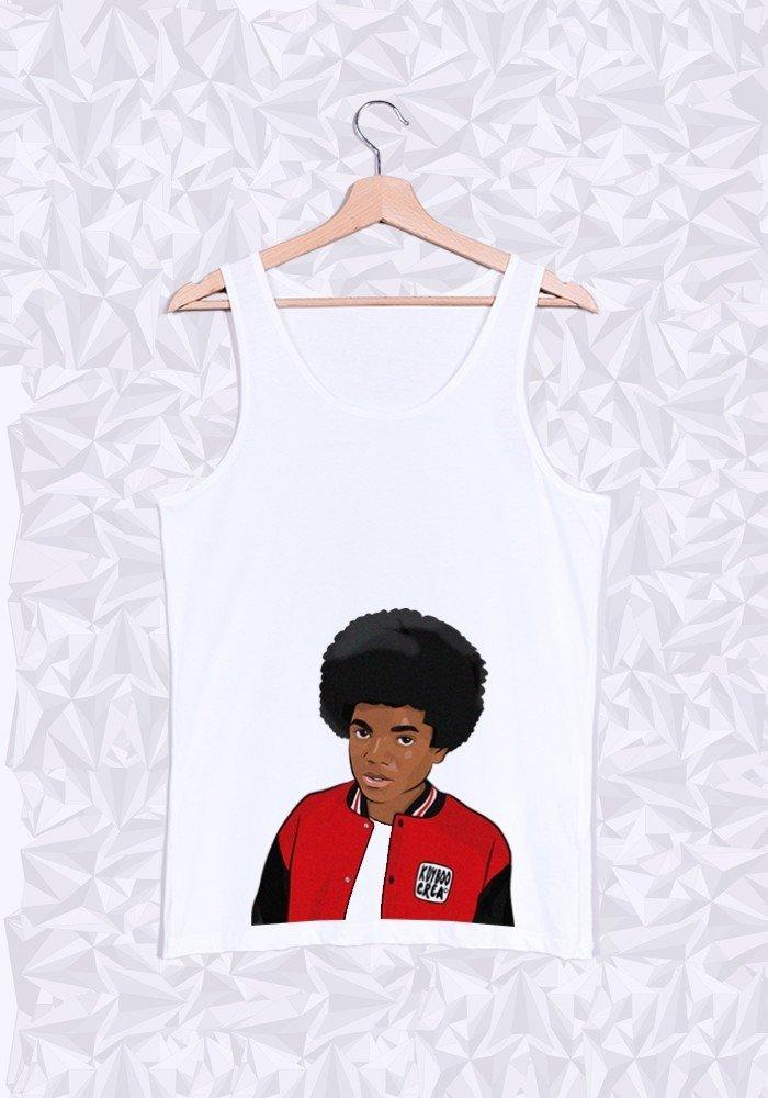 Débardeur Michael Jackson Afro Buste