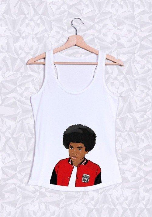 Michael Jackson Afro Buste Débardeur Femme