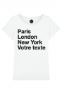 PARIS LONDON NY - T-shirt Femme à personnaliser