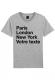PARIS LONDON NY - T-shirt Homme personnalisable