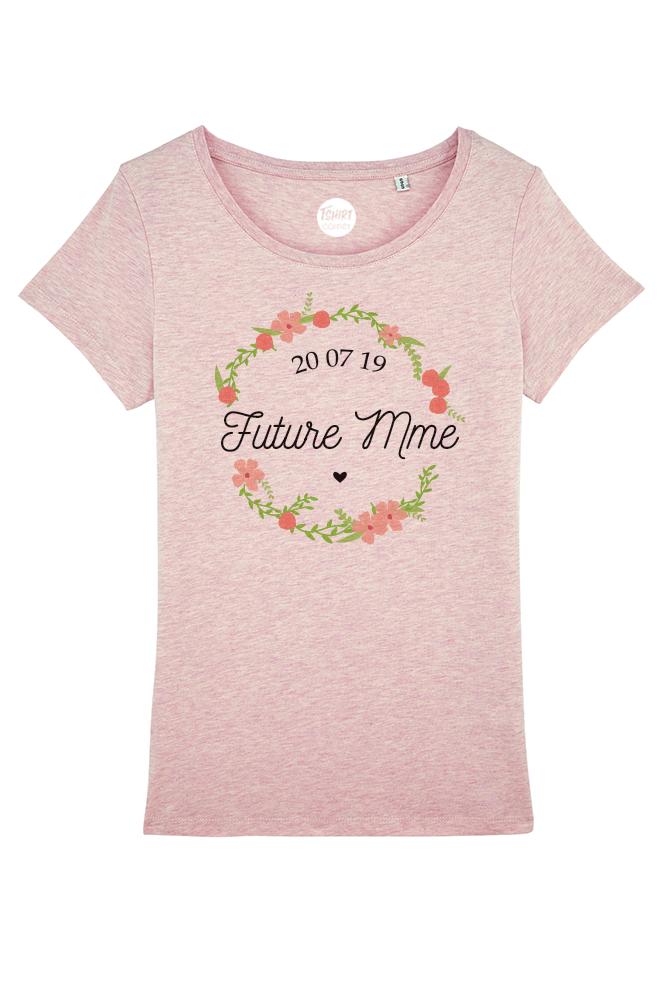 Tee Shirt Femme Personnalisable Future Mariée