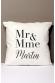 Mr et Mme Martin - Coussin personnalisable pour mariage