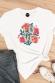 Love Fleurs - T-shirt coupe droite