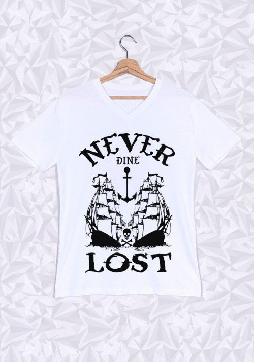 Never Lost T-shirt Homme Col V