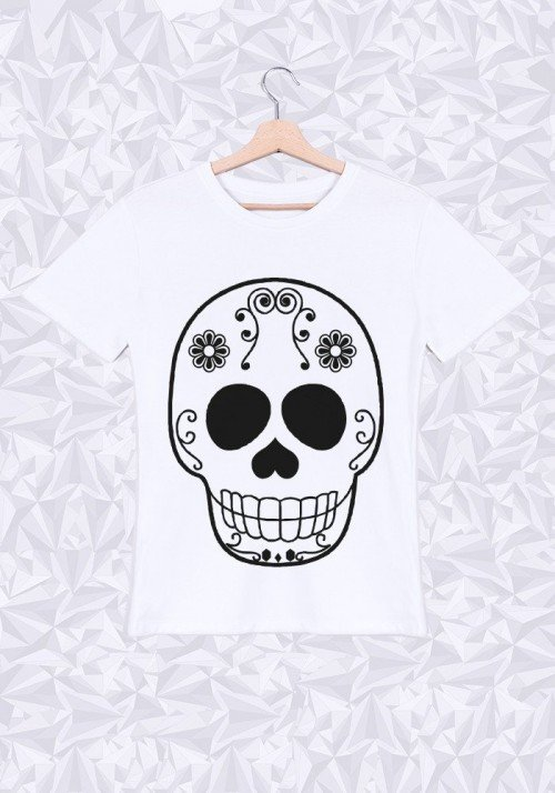 Skull Head T-shirt Homme Col Rond
