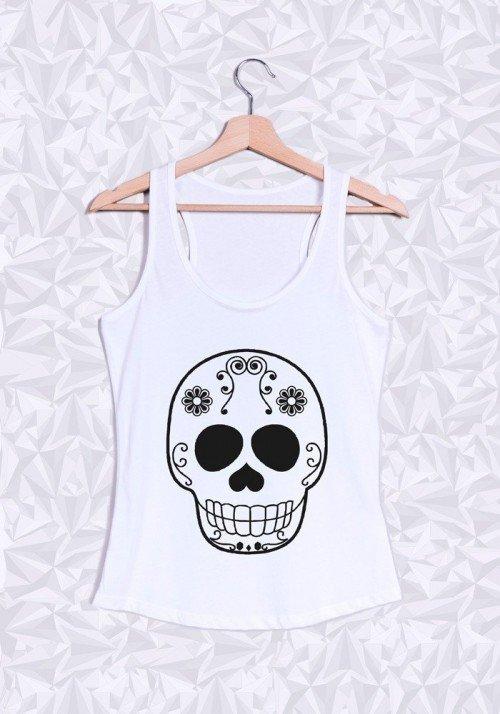 Skull Head Débardeur Femme