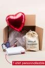 Box Saint-Valentin avec T-shirts personnalisables