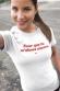 T-shirt femme - Pour que tu m'aimes encore (effet velours)
