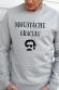 Moustache gracias - Sweat Homme