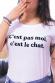 T-shirt femme - C'est pas moi, c'est le chat (effet velours)