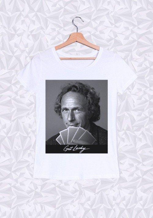 Get Lucky T-shirt Femme Col Rond