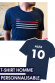 T-shirt Homme - Supporter France Personnalisable (non officiel)