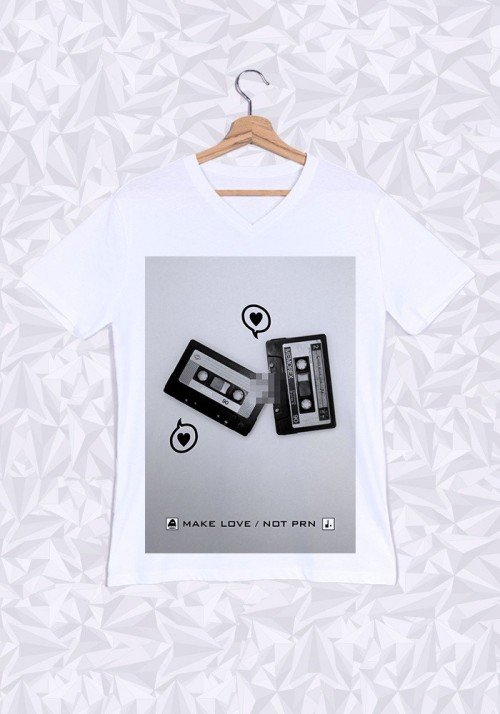 Tshirts Homme Cassette Love