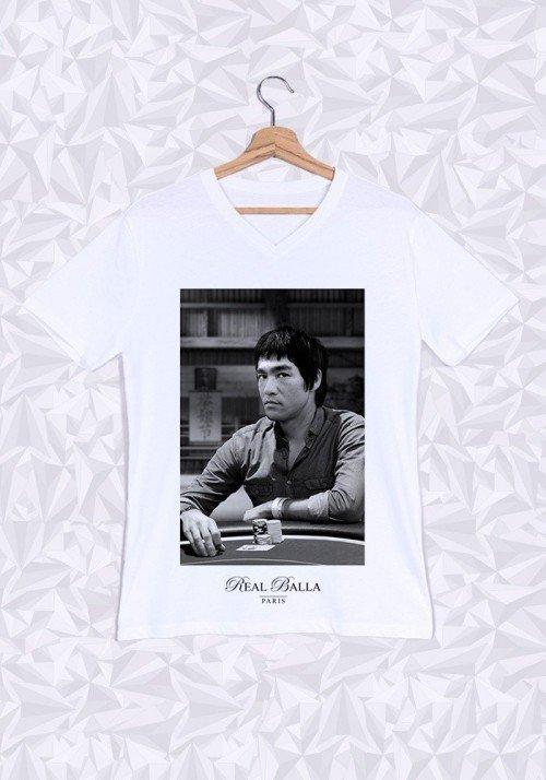Bruce Lee T-shirt Homme Col V