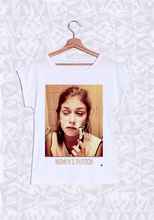 Women Putsch T-shirt Femme Manches Retroussées