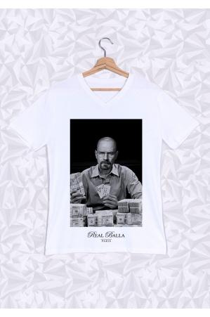 Heisenberg T-shirt Homme Col V