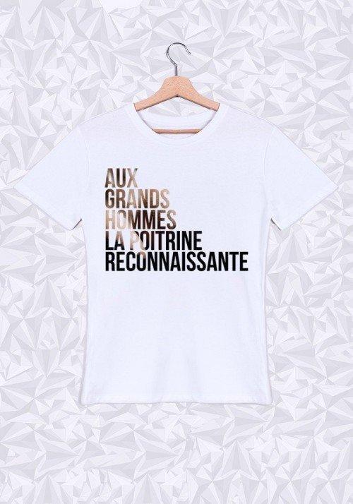 Aux Grands Hommes la Poitrine T-shirt Homme Col rond