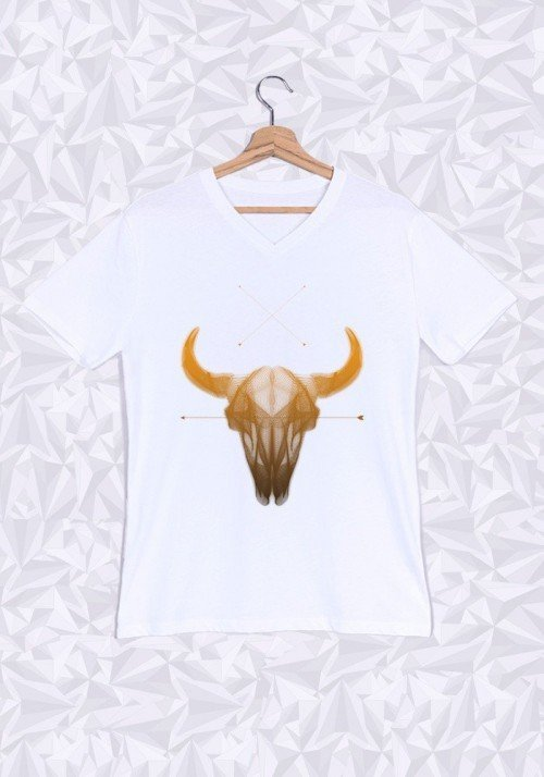 Buffalo T-shirt Homme Col V